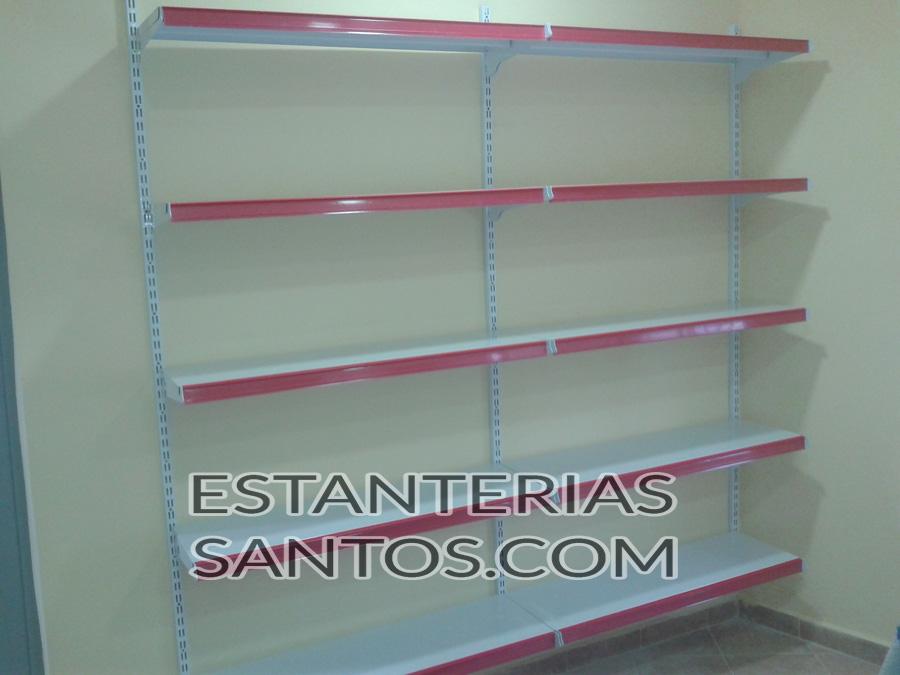 Estanter a sistema de cremalleras con bandejas reforzadas - Estanterias metalicas de pared ...