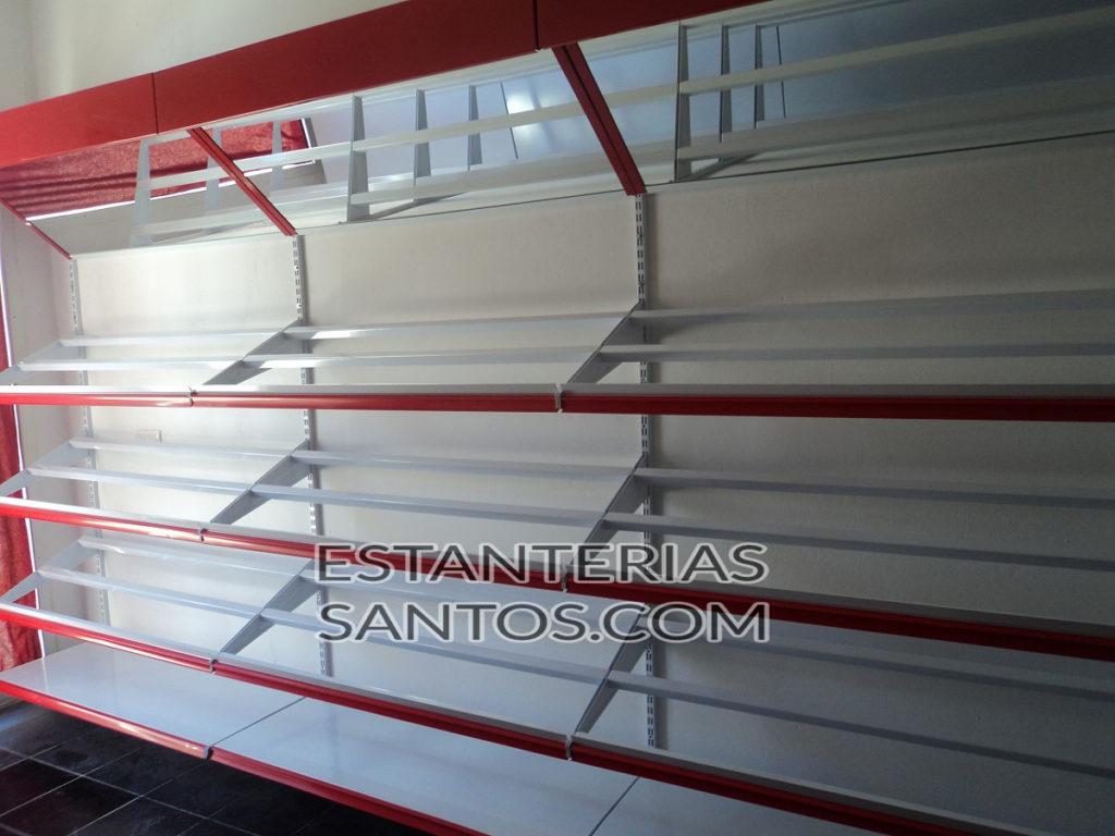 Estantería góndola metálica completa 3 Niveles | Estanterias Santos